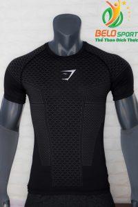 Áo tập gym body fit SHARK độc quyền Belo mã A-099 màu đen