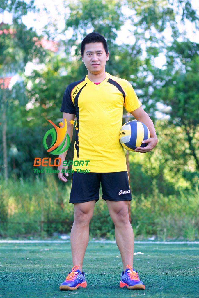 Áo bóng chuyền nam Asics màu vàng hàng cao cấp