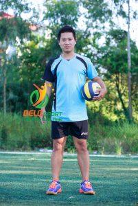 Áo bóng chuyền nam Asics màu xanh ngọc hàng cao cấp