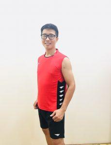 Áo bóng chuyền Hiwing H2 cao cấp chính hãng màu đỏ