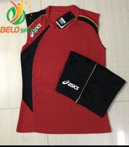 Áo bóng chuyền sát nách nam Asics 2018-2019 màu đỏ