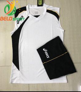 Áo bóng chuyền sát nách nam Asics 2018-2019 màu trắng