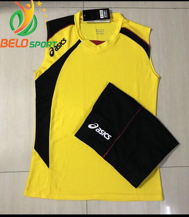 Áo bóng chuyền sát nách nam Asics 2018-2019 màu vàng