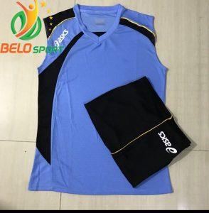 Áo bóng chuyền sát nách nam Asics 2018-2019 màu xanh ngọc