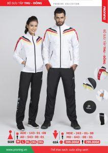 Bộ quần áo khoác gió chính hãng proning 2018 nam nữ màu trắng