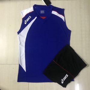Áo bóng chuyền sát nách nam Asics 2018-2019 màu xanh biển