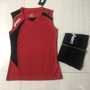 Áo bóng chuyền sát nách nữ Asics 2018-2019 màu đỏ