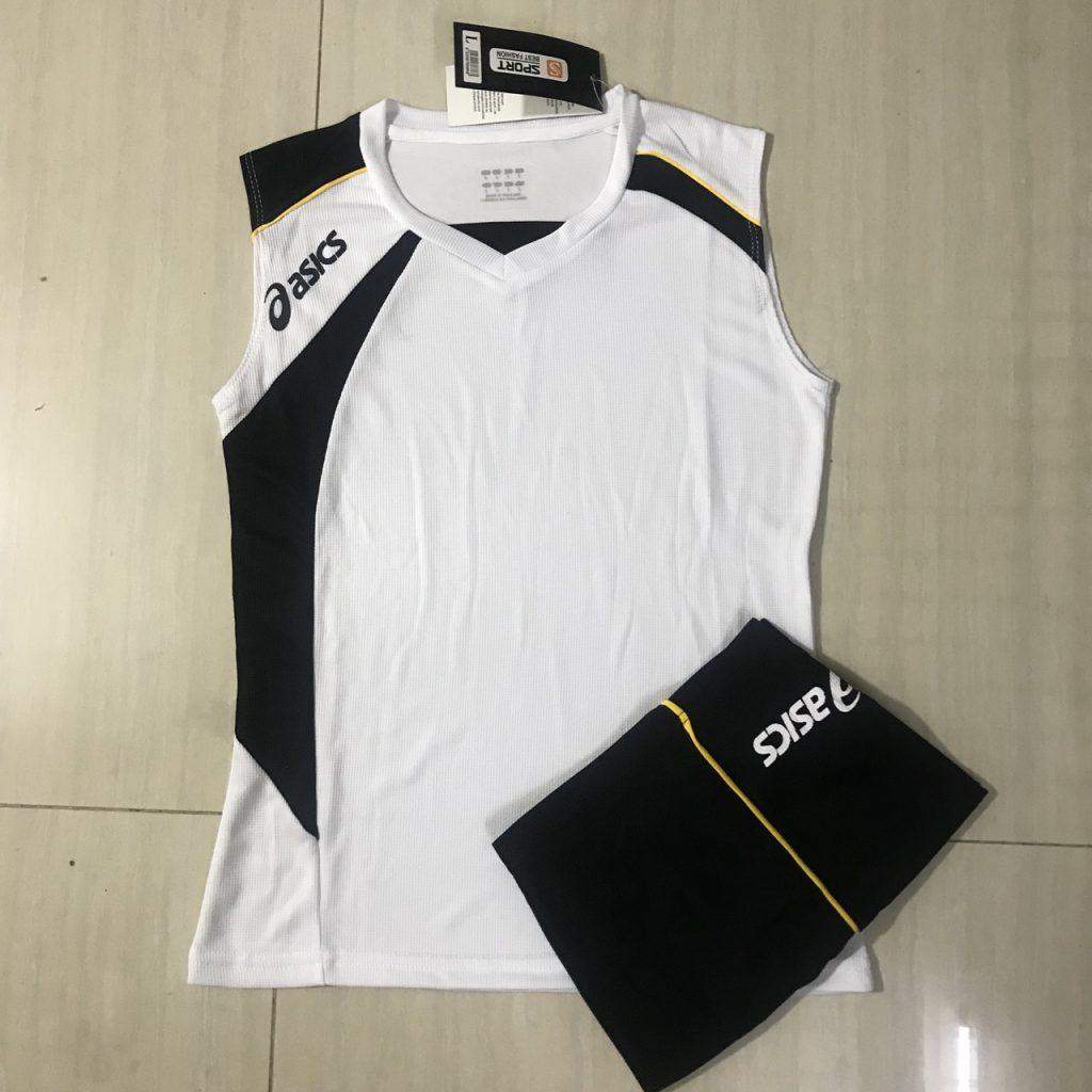 Áo bóng chuyền sát nách nữ Asics 2018-2019 màu trắng