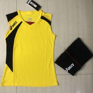 Áo bóng chuyền sát nách nữ Asics 2018-2019 màu vàng