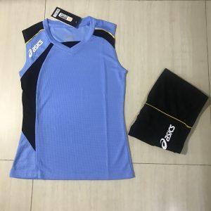 Áo bóng chuyền sát nách nữ Asics 2018-2019 màu xanh ngọc