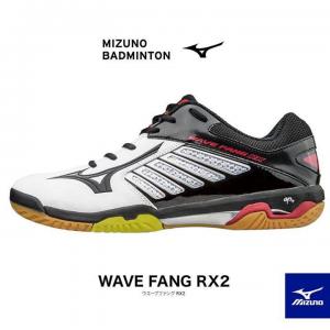 Giày cầu lông Mizuno chính hãng mã Wavefang RX đen trắng