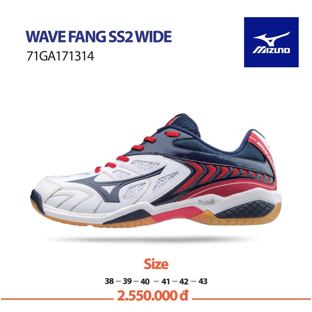 Giày cầu lông Mizuno chính hãng mã Wavefang SS2 Wide – 71GA171314