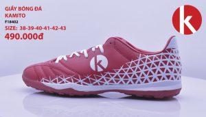 Giày Bóng Đá kamito Chính Hãng Mã F18402 Màu Trắng Pha Đỏ