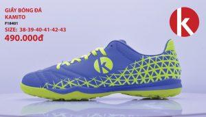 Giày Bóng Đá kamito Chính Hãng Mã F18401 Màu xanh pha chuối
