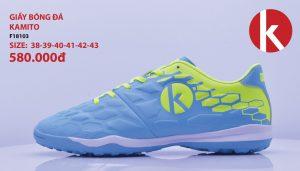 Giày Bóng Đá kamito Chính Hãng Mã F18103 Màu xanh nhạt pha chuối