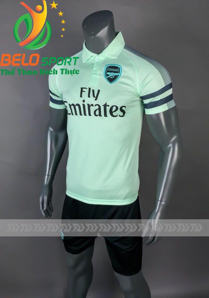 Áo bóng đá CLB Arsenal màu xanh ngọc sân khách 2018-2019