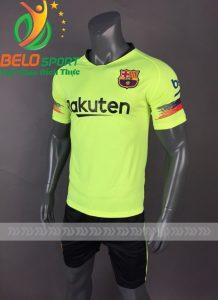 Áo bóng đá CLB Barca màu xanh chuối sân khách 2018-2019