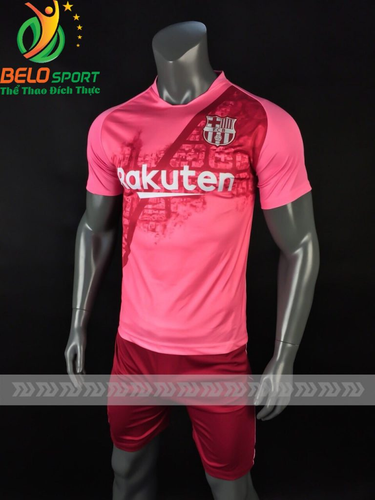 Áo bóng đá CLB Barca màu hồng sân khách 2018-2019