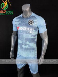Áo bóng đá CLB Chelsea màu xanh ngọc sân khách 2018-2019