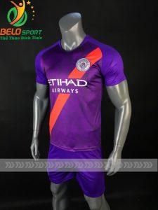 Áo bóng đá CLB Mancity màu tím sân khách 2018-2019