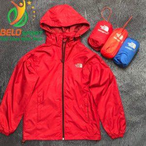 Áo khoác gió 2 lớp cao cấp chống nước màu đỏ