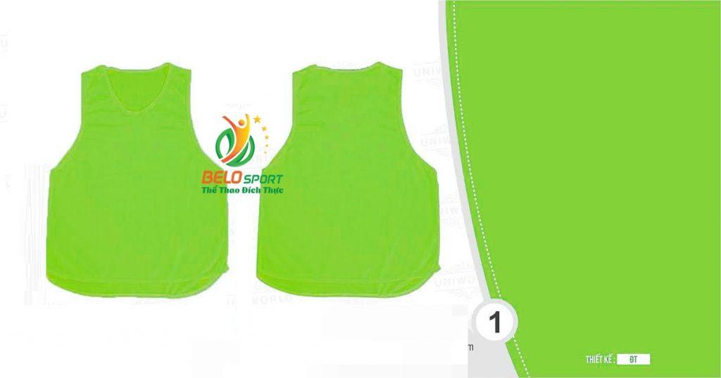 Áo lưới team building, áo tập bóng đá cao cấp màu xanh chuối