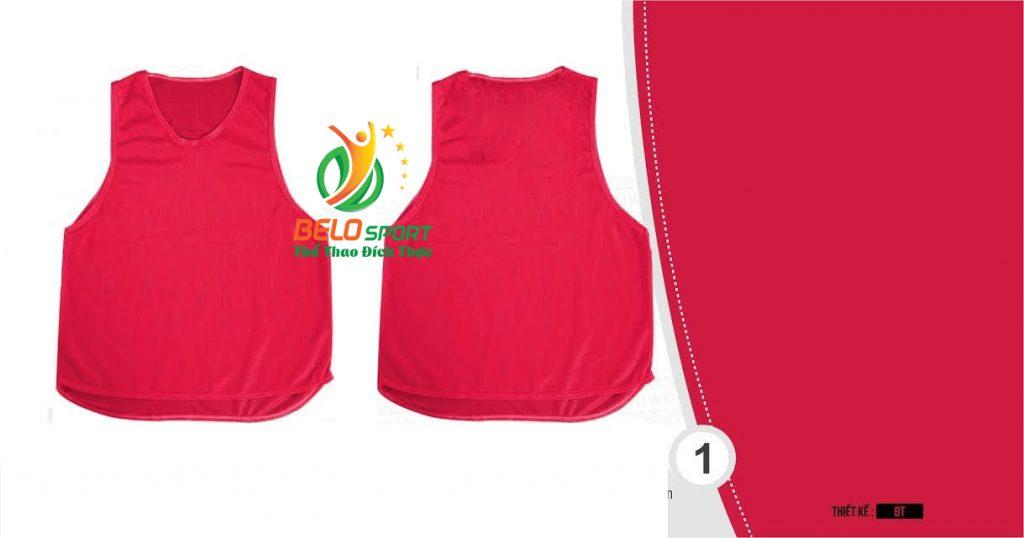 Áo lưới team building, áo tập bóng đá cao cấp màu đỏ tươi