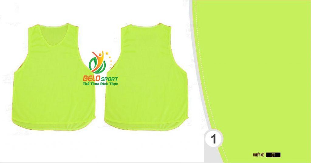 Áo lưới team building, áo tập bóng đá cao cấp màu vàng chanh