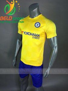 Áo bóng đá CLB Chelsea sân khách vàng 2018-2019
