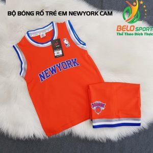 Áo bóng rổ trẻ em CLB NewYork cam giải NBA nhà nghề