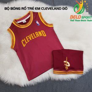 Áo bóng rổ trẻ em CLB Cleverland đỏ đô giải NBA nhà nghề