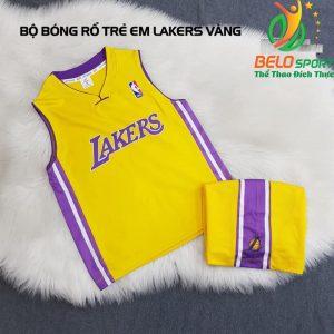 Áo bóng rổ trẻ em CLB Lakers vàng giải NBA nhà nghề