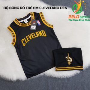 Áo bóng rổ trẻ em CLB Cleverland đen giải NBA nhà nghề
