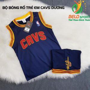Áo bóng rổ trẻ em CLB CAVS tím than giải NBA nhà nghề