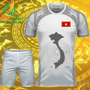 Áo Bóng đá đội tuyển việt nam trống đồng cao cấp màu trắng