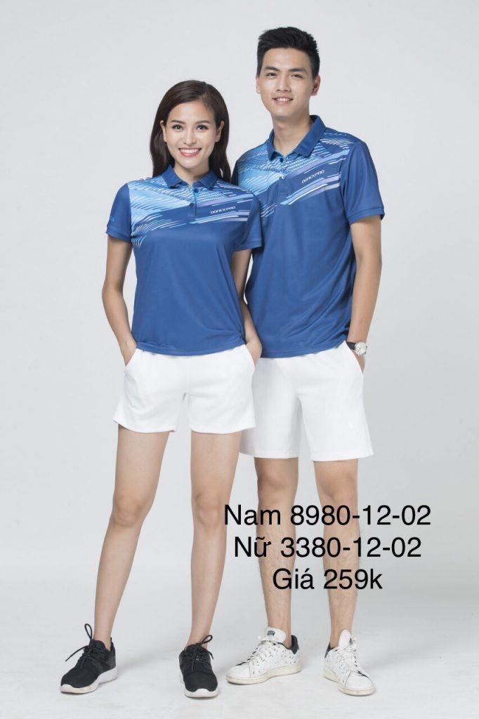Áo cầu lông nam nữ chính hãng Donexpro màu xanh biển 12-02