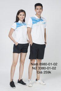 Áo cầu lông nam nữ chính hãng Donexpro màu trắng 12-02