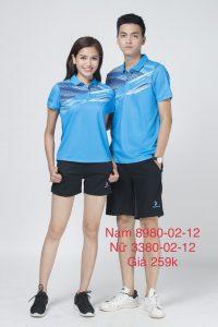 Áo cầu lông nam nữ chính hãng Donexpro màu xanh ngọc 12-02