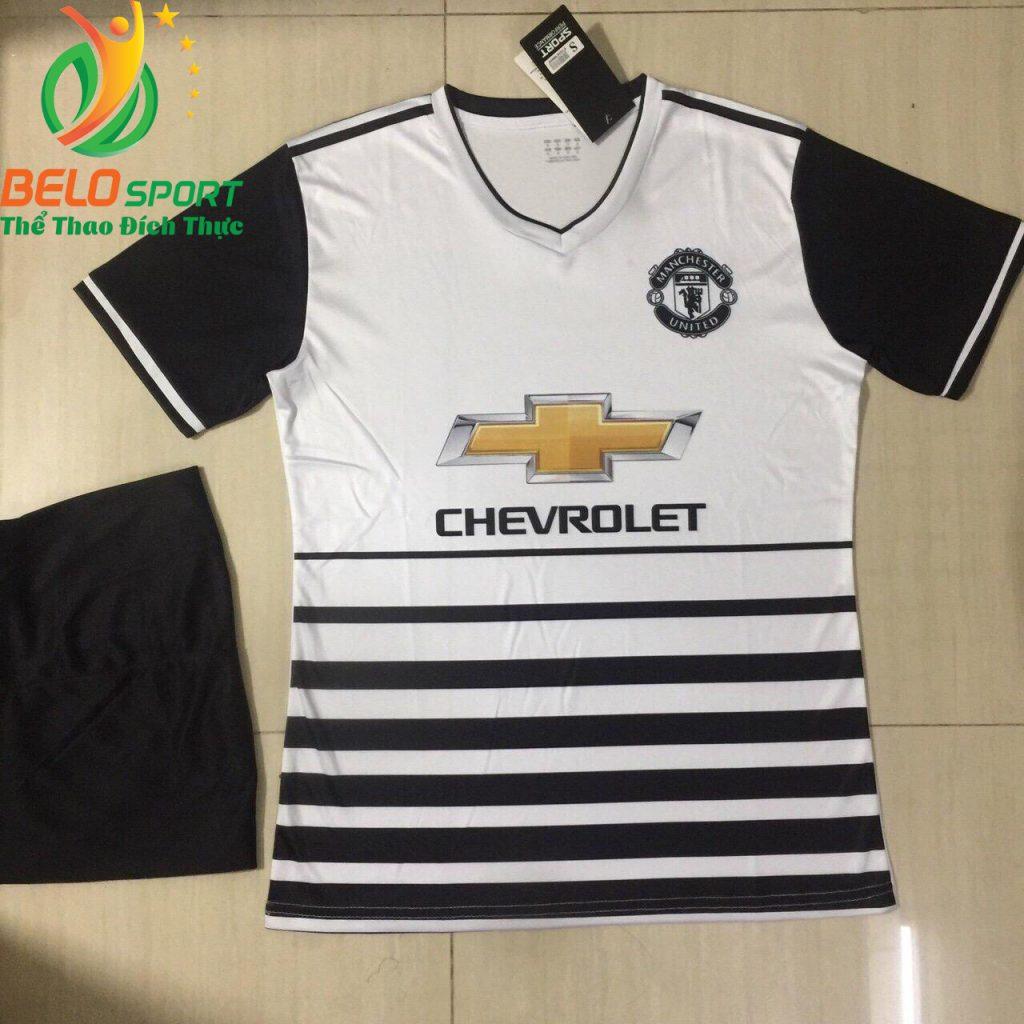 Áo Bóng đá câu lạc bộ Manchester màu trắng 2018-2019