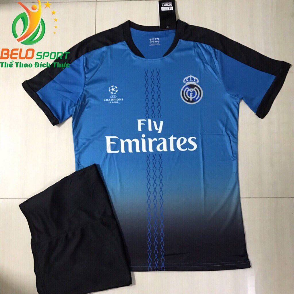 Áo bóng đá câu lạc bộ Real 2018-2019 màu xanh