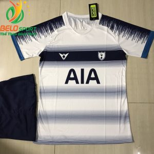 Áo bóng đá câu lạc bộ Tottenham 2018-2019 màu trắng pha xanh