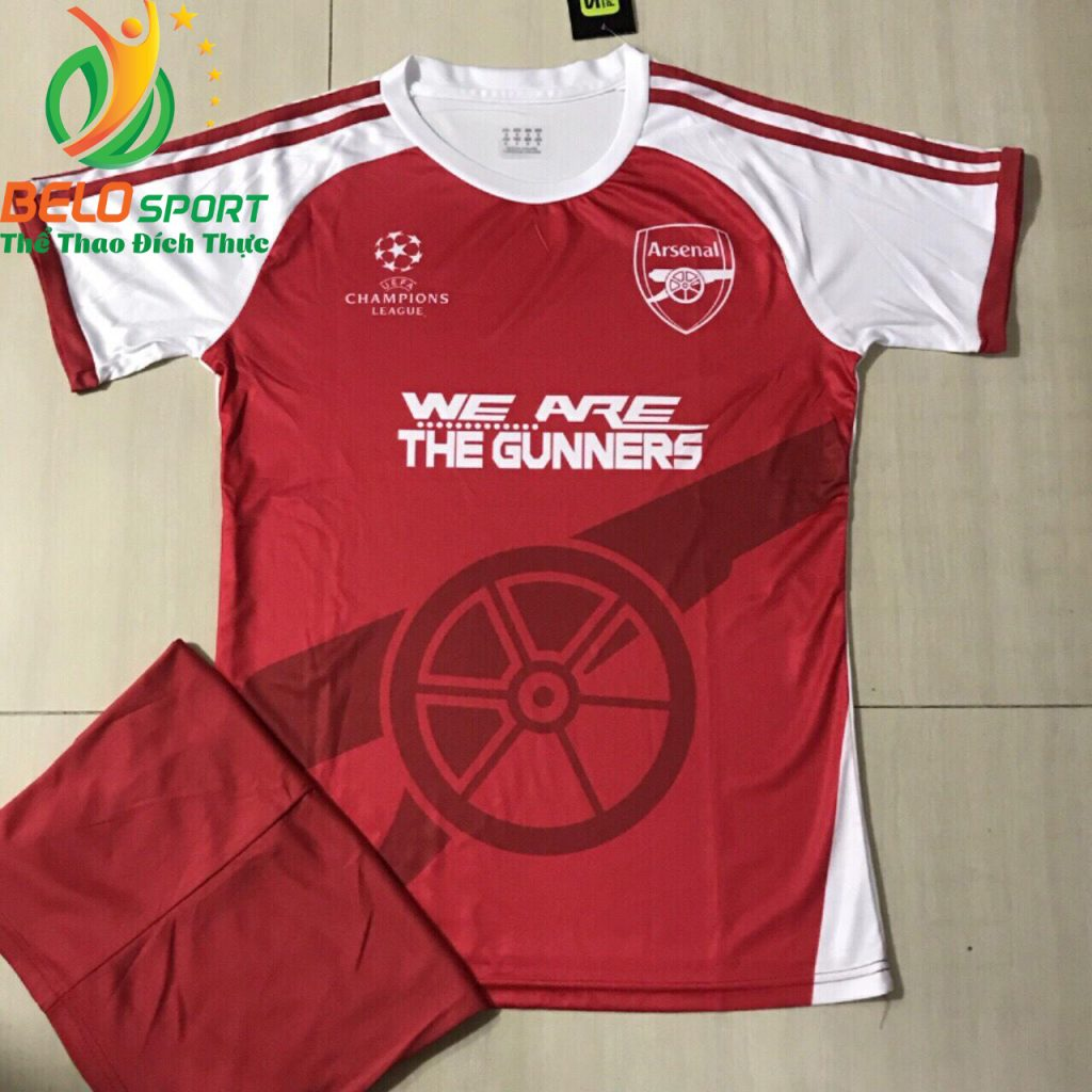 Áo bóng đá CLB Arsenal phiên bản Fan màu đỏ pha trắng