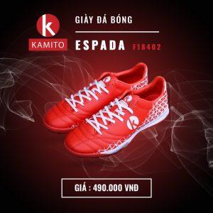 Giày bóng đá Kamito Espada F18402 màu đỏ