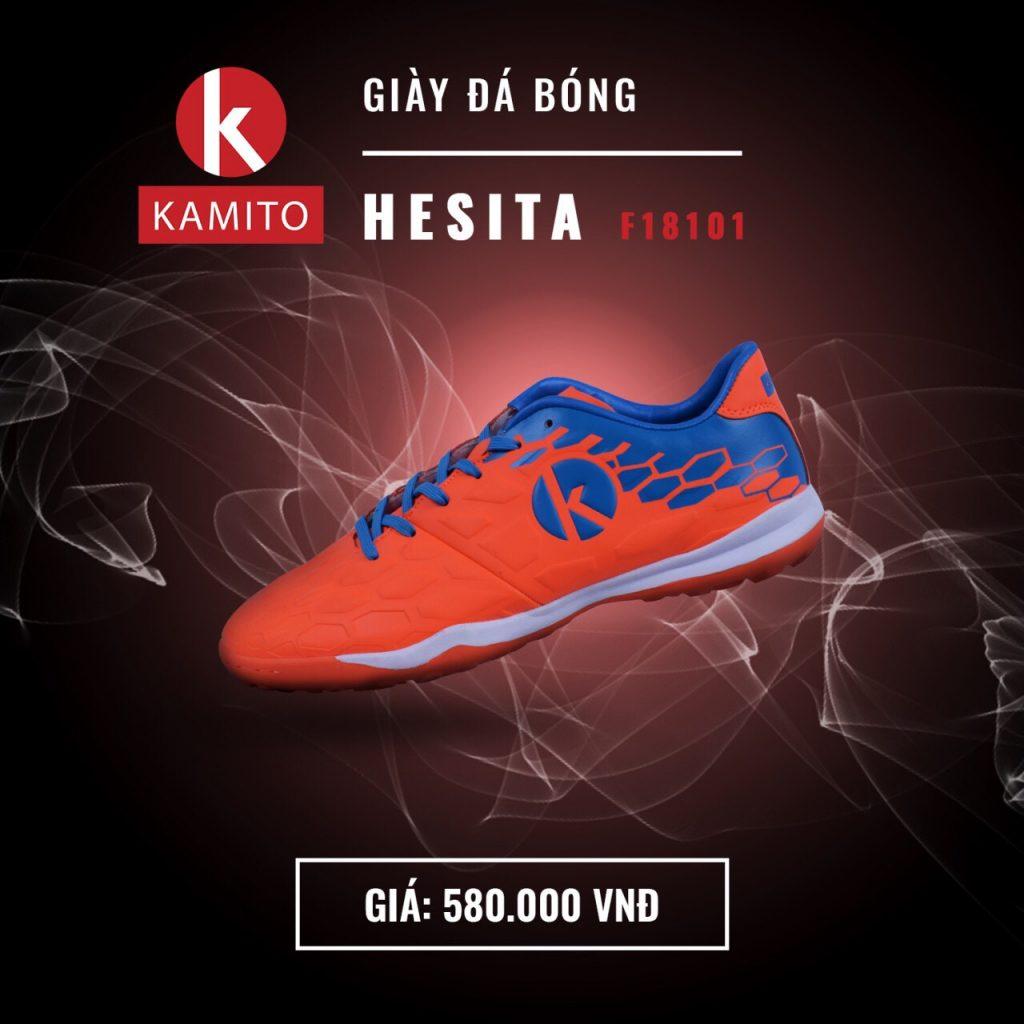 Giày bóng đá Kamito Hesita F18101 màu cam