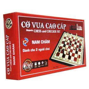 Bộ trò chơi cờ vua nam châm cỡ lớn đỏ 33*33 cm