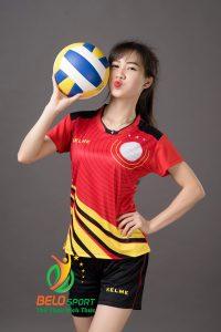 Áo bóng chuyền nữ Kelme K-066G màu đỏ