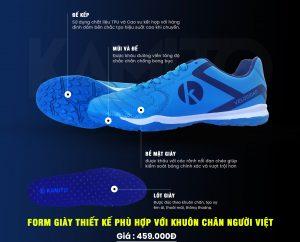 Giày Bóng đá Kamito Velocidad  F18202 màu xanh nhạt