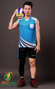 Áo bóng chuyền nam Kelme chính hãng màu xanh ngọc K-066G