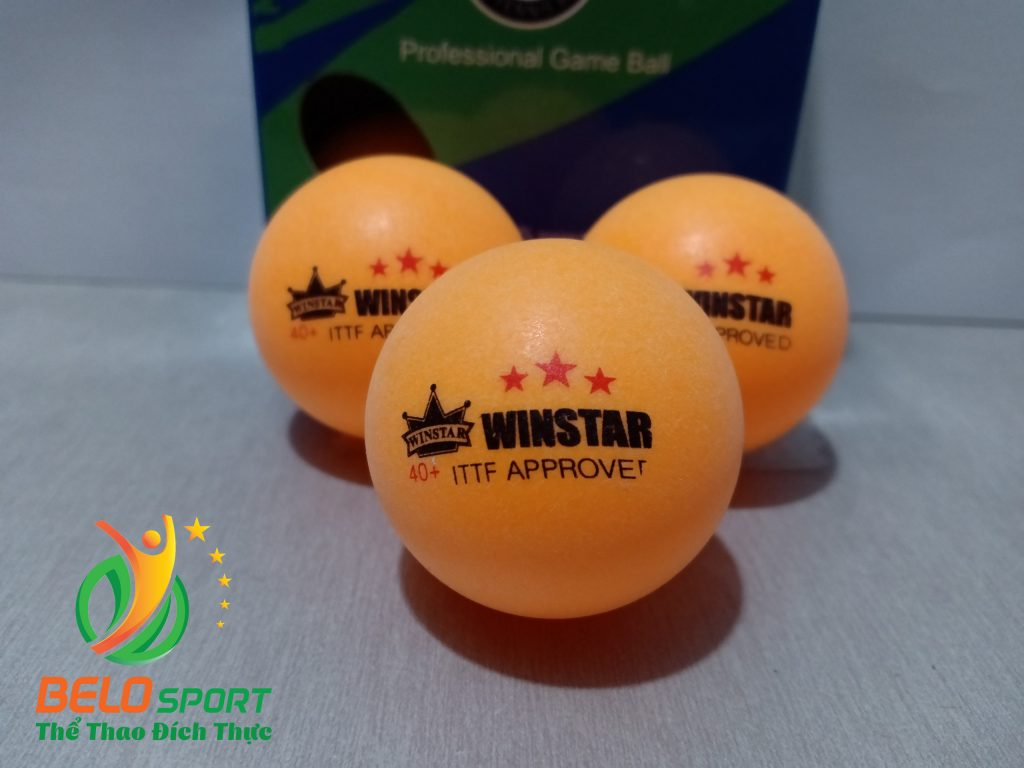 Quả bóng bàn Winstar 3 sao 40+ hộp 6 quả tiêu chuẩn thi đấu