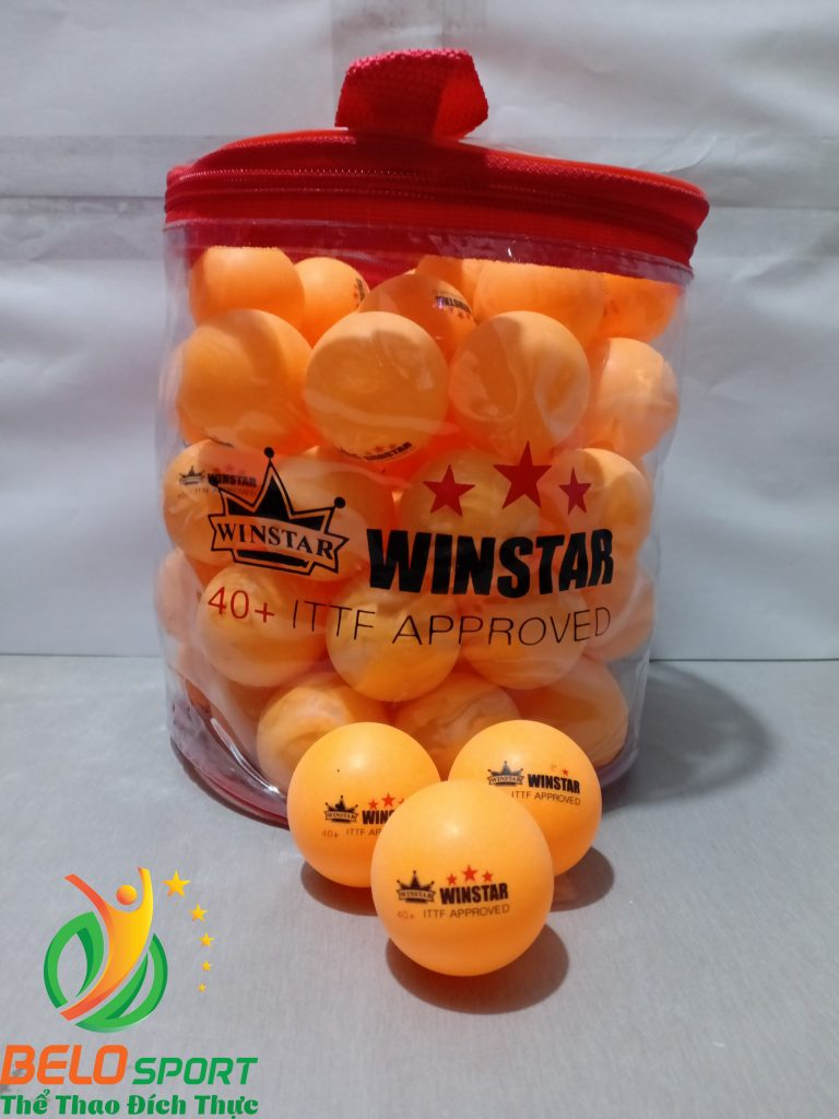 Quả bóng bàn Winstar 3 sao 40+ túi 60 quả